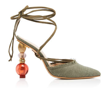Jacquemus Tie-Detailed Accent Heel Portofino Pumps