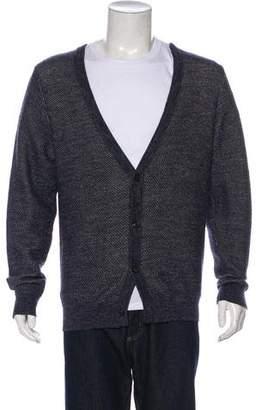 Maison Margiela Wool & Linen-Blend Cardigan
