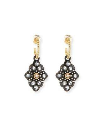 Armenta Old World Garnet & Diamond Scroll Drop Earrings