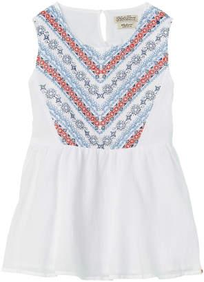 Lucky Brand Girls' Bright White Gauze Woven Tank