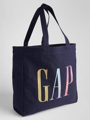 Gap Large Metallic Logo Tote