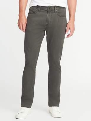 Old Navy Slim Built-In Flex Five-Pocket Brushed-Twill Pants for Men