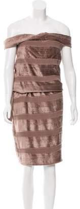 Bottega Veneta Off-The-Shoulder Velvet Dress w/ Tags