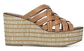 Sam Edelman Women's Devon Leather Wedge Sandals
