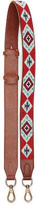 Polo Ralph Lauren Southwestern Leather Strap $198 thestylecure.com