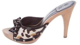 Christian Dior Printed Slide Sandals