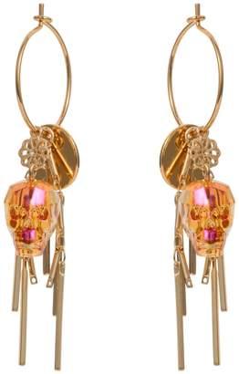 Nadia Minkoff - Skull Cluster Earring Tangerine