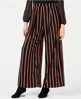 Bar III Striped Wide-Leg Pants