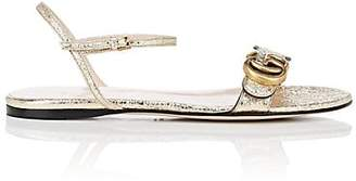 Gucci Women's Metallic Leather Sandals - Gold