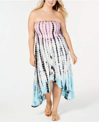 Raviya Plus Size Tube Dress Cover-Up Women Swimsuit