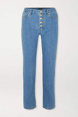 Joseph Den High-rise Slim-leg Jeans - Indigo