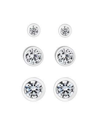 Jon Richard Simply Silver By Simply Silver 3 Pack Stud Earrings