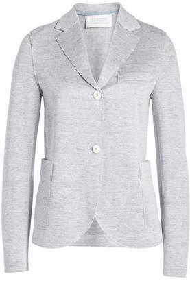 Harris Wharf London Cropped Boyfriend Blazer in Linen and Cotton