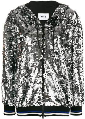 MSGM sequin hooded jacket