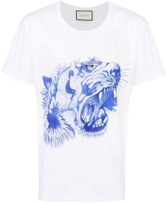 Gucci tiger's head print T-shirt