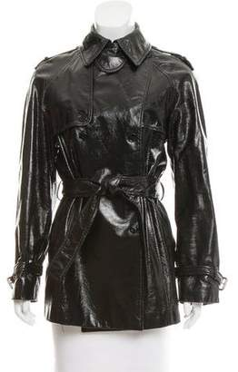 Dolce & Gabbana Patent Leather Double-Breasted Jacket