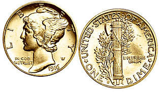 American Coin Treasures Gold-Layered Mercury Dime Cuff Links
