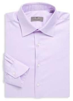 Canali Long-Sleeve Cotton Dress Shirt