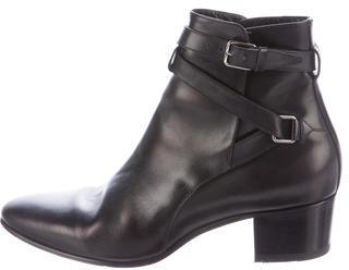 Saint LaurentSaint Laurent Leather Buckle Ankle Boots