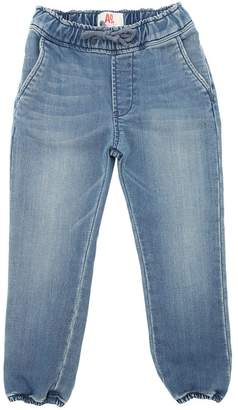 Denim Effect Cotton Pants