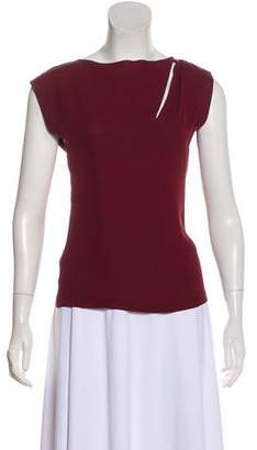 Maison Margiela Sleeveless Silk Top