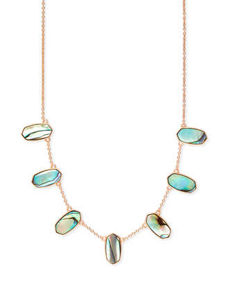 ebdb87042826cd Kendra Scott Meadow Rose Gold Collar Necklace in Abalone Shell