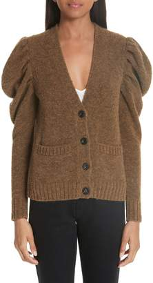Co Full Sleeve Merino Wool Blend Cardigan