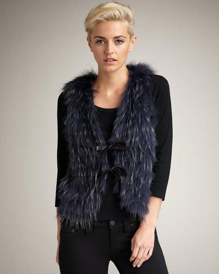 Royal Underground Tie-Waist Fur Vest