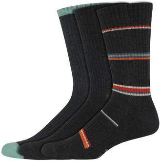 Dockers Men's Classic Smart 360 Flex Cushion Comfort Sport 3-pack Striped & Solid Casual Crew Socks