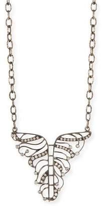 Loree Rodkin 18k White Gold Diamond Phoenix Necklace