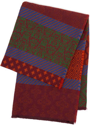 Etro Alicante Wool Silk And Cotton-Blend Throw Blanket