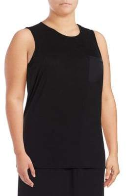 Lord & Taylor Plus Hi-Lo Tank Top