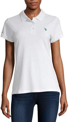U.S. Polo Assn. Womens Short Sleeve Knit Polo Shirt Juniors