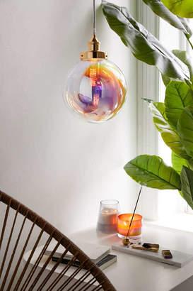 Rainbow Blown Glass Bubble Pendant Light