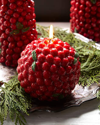 Red Berries Ball Candle
