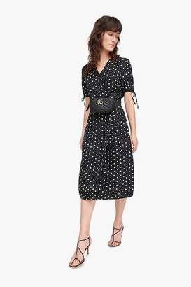 Genuine People Polka Dot Wrap Dress