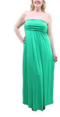 24/7 Comfort Apparel Women's Plus Maxi Tube Dress
