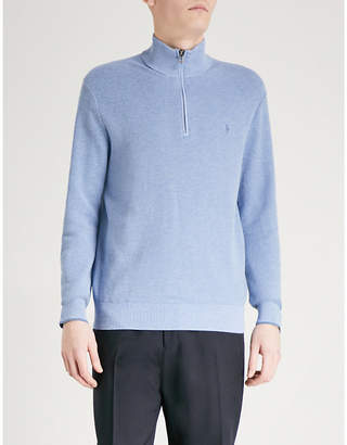 Funnel neck cotton jumper