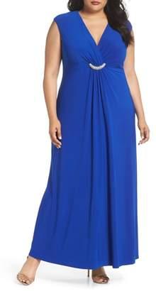 Eliza J Embellished Surplice Dress