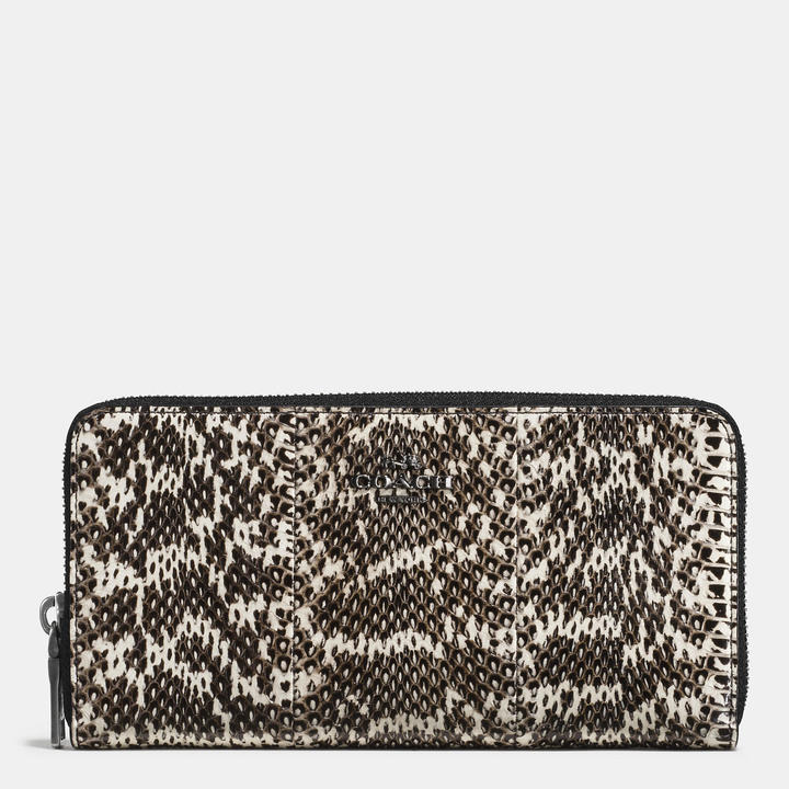 Coach   COACH Coach Accordion Zip Wallet In Snakeskin