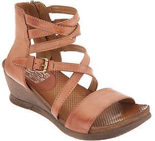 Miz Mooz Leather Multi Strap Wedge Sandals -Shay