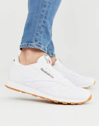 8ebd8a717703b Reebok White Real Leather Shoes For Men - ShopStyle UK