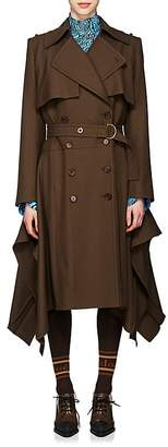 Chloé Women's Virgin Wool Twill Asymmetric Trench Coat