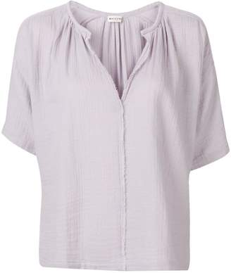 Masscob frayed short-sleeved blouse