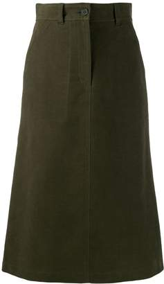 Aspesi high-waisted flared skirt