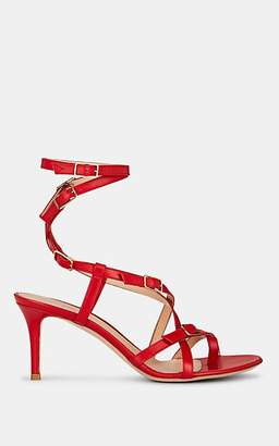 8460cfdb0c4 Gianvito Rossi Women s Leather Ankle-Wrap Sandals - Red