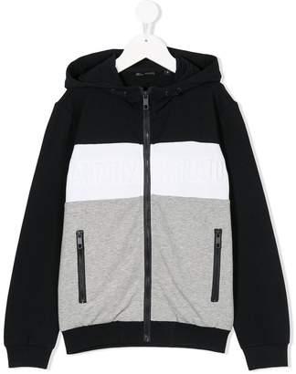 Antony Morato Junior striped zip-up hoodie