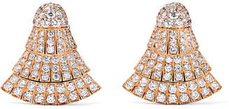 de Grisogono Ventaglio 18-karat Rose Gold Diamond Earrings - one size