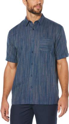 Cubavera Variegated Yarn Dye Striped Shirt