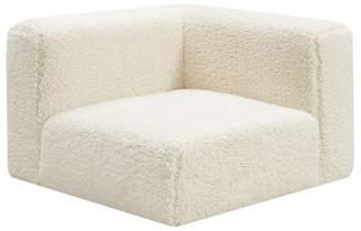 Pottery Barn Teen Cushy Lounge Corner Chair, Ivory Sherpa Faux-Fur, IDS